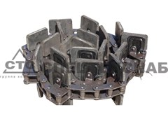 Транспортер колос. элев. ПОЛЕСЬЕ-1218, КЗС-7 (13 скребок 150х100 мм) КЗР-0208080Б