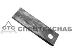 Нож режущий изогнутый длинный КРН (50х177х5мм,Ф=20) прав. 2,1Б.29.438